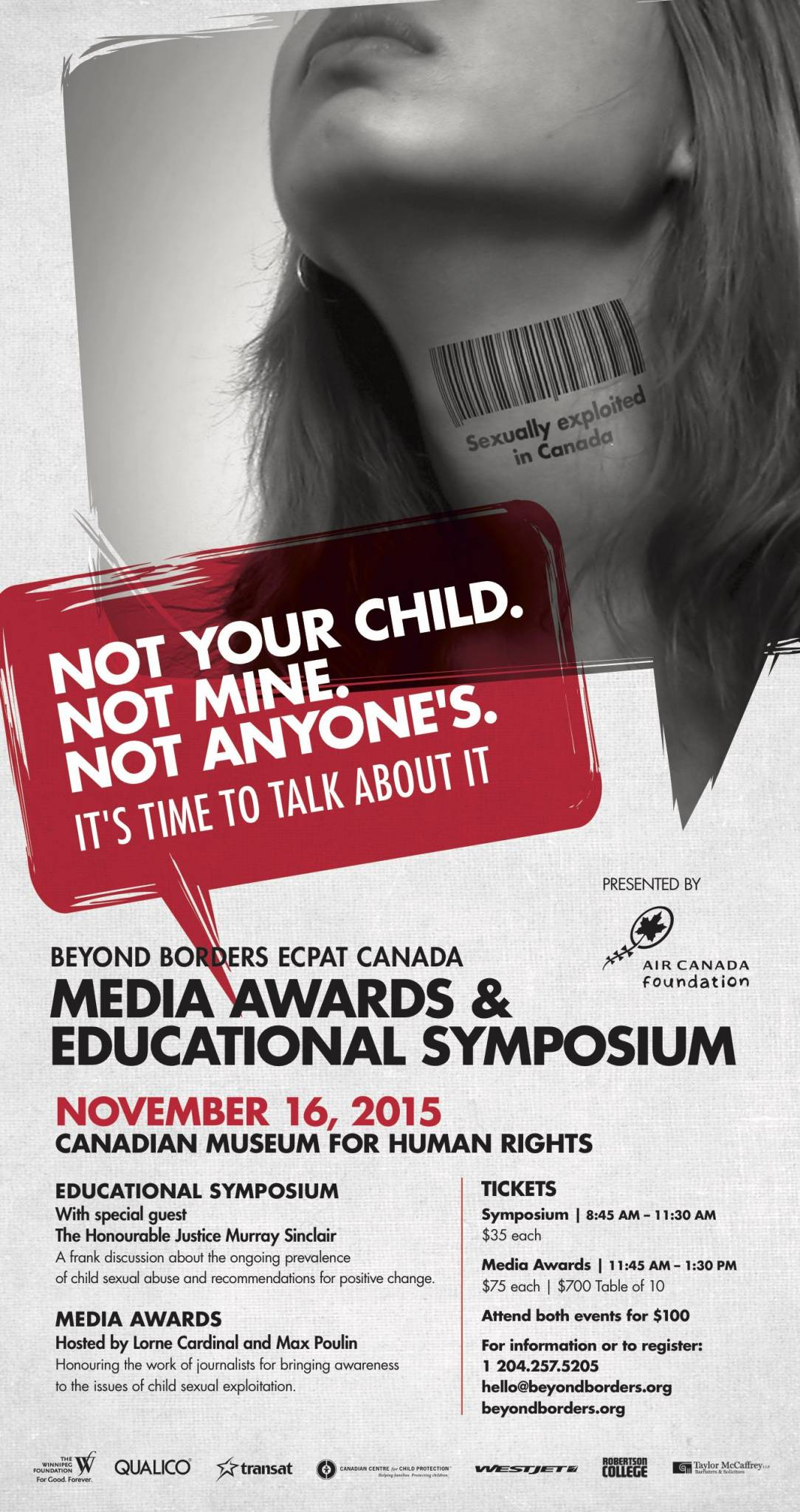 """Not Your Child. Not Mine. Not Anyone's.  """"It's Time to Talk About It"""""""