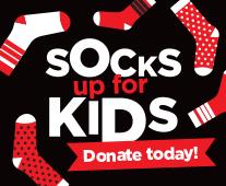 Socks up for kids